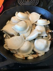 A nice crispy outside with a soft filling creates the perfect texture for those frozen pierogies. Pair them with caramelized onions and you have the burst of flavor you were always looking for. #cooking #delicious #yummy