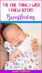 Breastfeeding can be stressful for more reasons than just staying up late and latching. Here is the one thing I wish someone told me about breastfeeding and why it's okay. #momlife #newmom #love