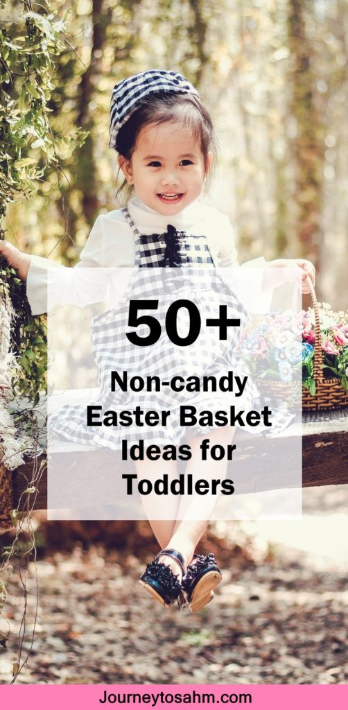 Easter is known for jelly beans, chocolate bunnies, and Peeps. It is great to indulge in delicious junk food, but do you really want your kids running around on a sugar high for the next 2 months straight? I didn't think so. Here's how you can fill your toddler Easter basket with no candy involved. #easter #toddler #spring